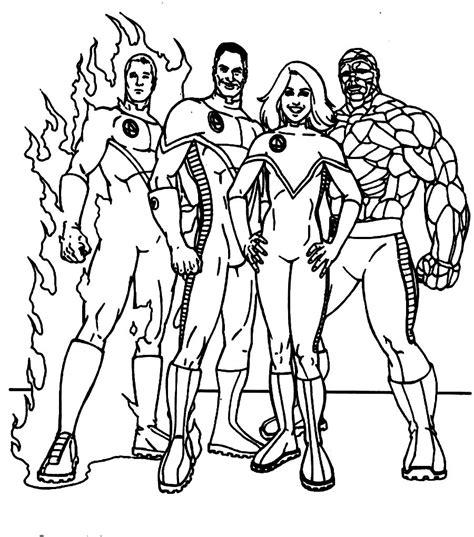 Image Dibujos Para Colorear Los 4 Fantasticos Download Fantastic Four Coloring Pages