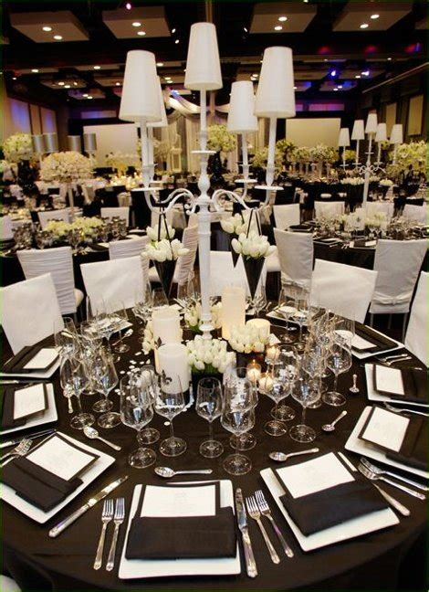 themed black tie events noir et blanc un marriage toujours 233 l 233 gant en 55 id 233 es