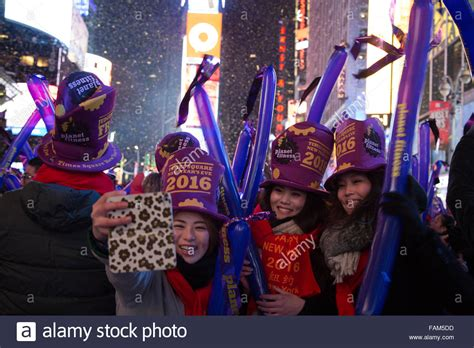 new year us sts new york city united states 31st dec 2015 new year s