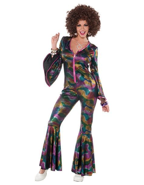 COSTUME OVERALL DISCO FOR WOMEN (ONE SIZE)