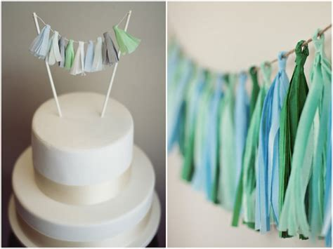 mini tassel garland alternative cake topper