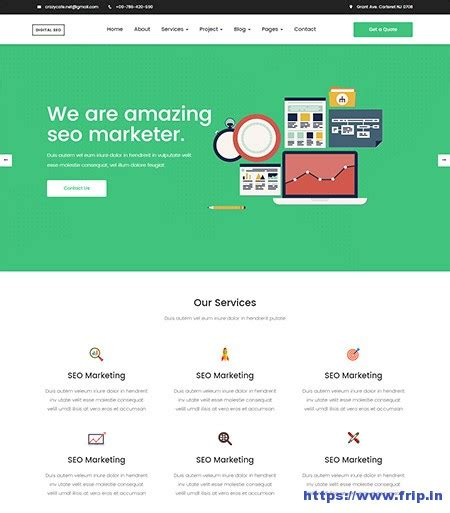 template seo responsive 30 best seo website templates for seo companies agency