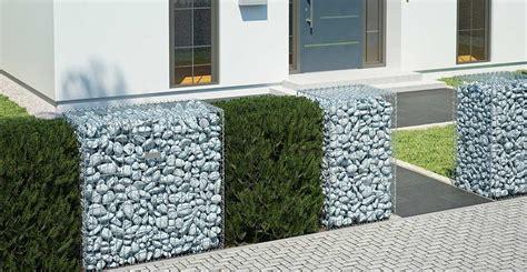 Gabionen Ganz Einfach Selber Bauen Obi Gartenplaner Vorgarten Steine