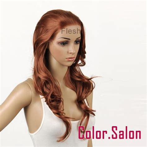 Wig Daily 92 Brown flesh lace front synthetic wigs wavy light brown 92 30 f ebay