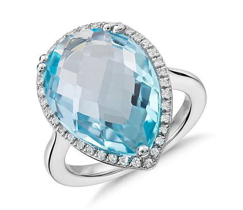 Sky Blue Topaz Sky Blue Topas sky blue topaz halo cocktail ring in sterling