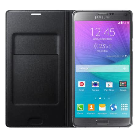 Black Iron Galaxy Note 4 Custom Flip Cover official samsung galaxy note 4 flip wallet cover smooth black