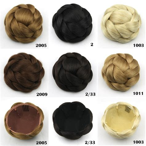 styling products for an american hair bun 1pcs braided african american synthetic clip hair bun
