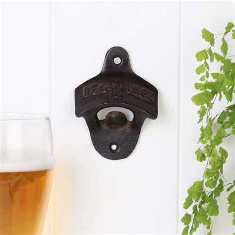 cast iron wall mount cast iron wall mounted bottle opener by dibor