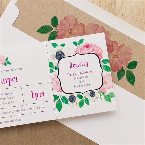 Pretty In Pink Baby Shower Invitations by Pretty In Pink Baby Shower Invitations Beacon