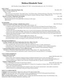 Resume Sle For Research Engineer Bio Engineering Resume Sales Engineering Lewesmr