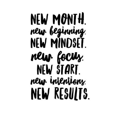 new month new beginning new mindset new focus new