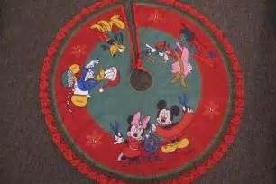 disney christmas tree skirt mickey mouse and friends