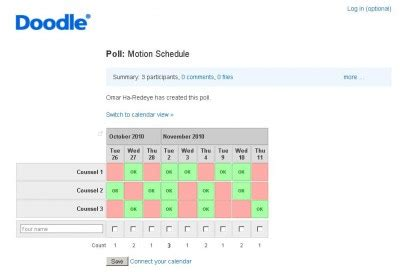 doodle poll outlook using doodle for motion scheduling slaw