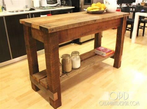 easy kitchen island 30 rustic diy kitchen island ideas