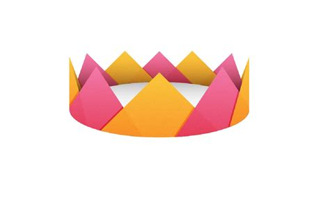 Papercraft Crown - how to make a paper crown papermade easy tutorial