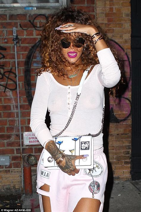late night tattoo shops rihanna goes braless as she heads to in new