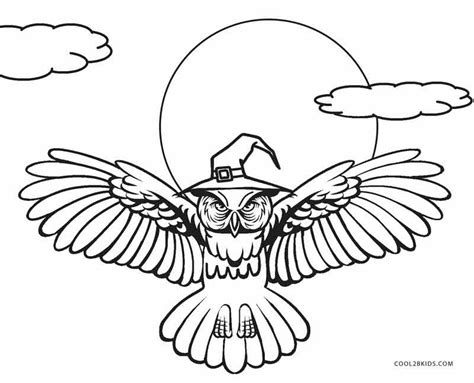 halloween coloring pages owl free printable owl coloring pages for kids cool2bkids