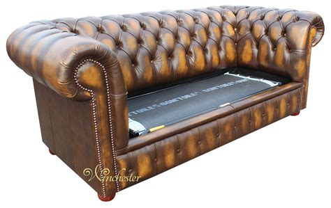 2 Seater Leather Sofa Bed Chesterfield 2 Seater Sofa Bed Antique Gold Leather