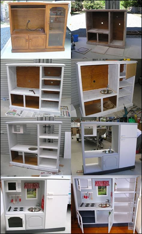pretend kitchen furniture wonderful diy play kitchen from tv cabinets diy play