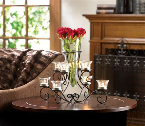 Candle Vases Centerpieces Scrollwork Candle Stand Centerpiece Vase At Eastwind