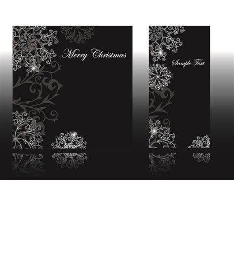 Gift Name Card Design - set of black glossy gift cards design vector 03 vector card free download