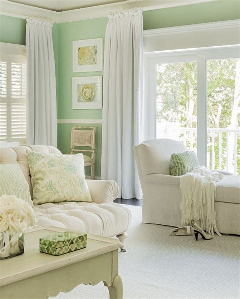 what color curtains go with mint green walls classic family home with coastal interiors home bunch