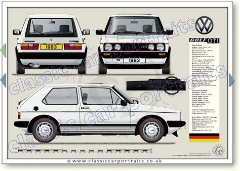 Vw Golf Gti Campaign 1983 Classic Car Portrait Print