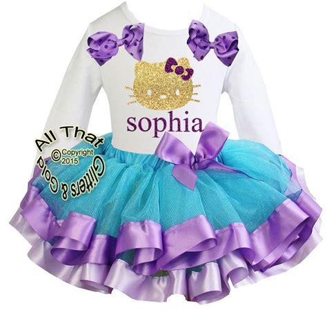 Hello Ribbon Dress hello tutu sets hello birthday shirts clothing