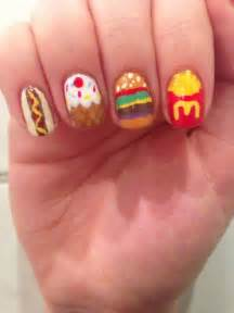 14 nail designs food images fast food nail art food