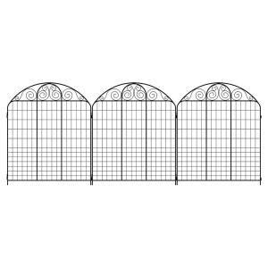 vigoro rockdale   black steel fence panel  pack