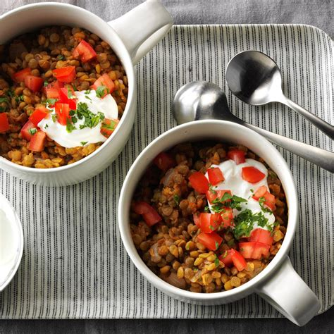 6 hearty recipes making potatoes main dish worthy tomato garlic lentil bowls recipe taste of home