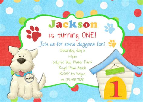 printable dog invitation puppy birthday invitation puppy party invite puppy