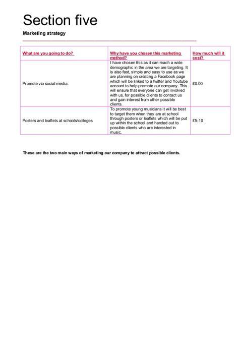 small business participation plan template tech business plan