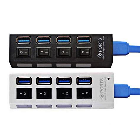 5gbps 4 Port Usb 3 0 Hub Black mini 5gbps high speed 4 port usb 3 0 hub with on