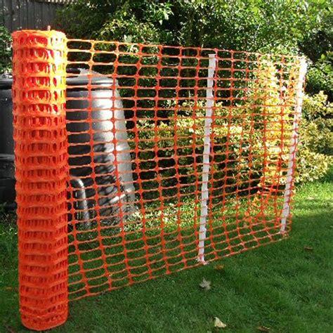 orange barrier fencing