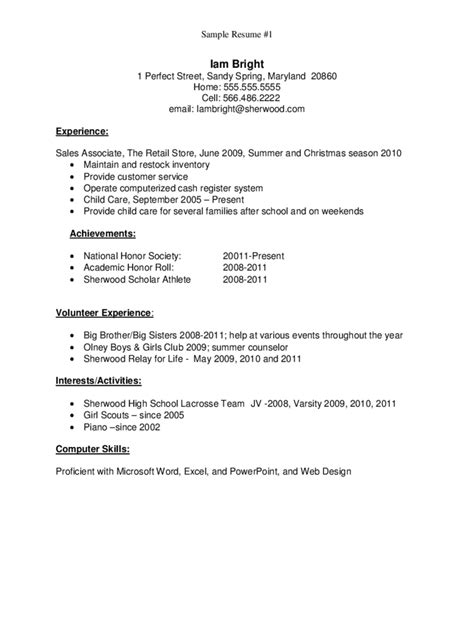 sle resume for high school graduate edit fill sign