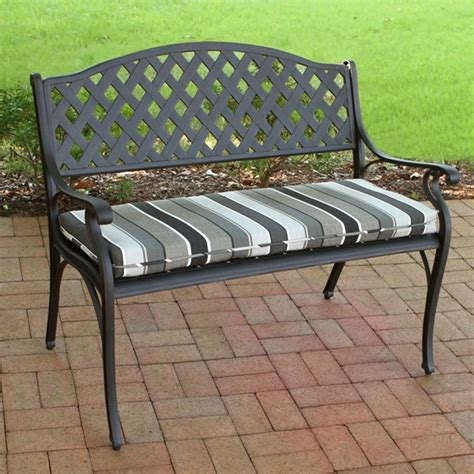 outdoor benches with cushions outdoor bench fabric cushions suntastic