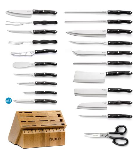 ultimate set with steak knives with block 37 pieces