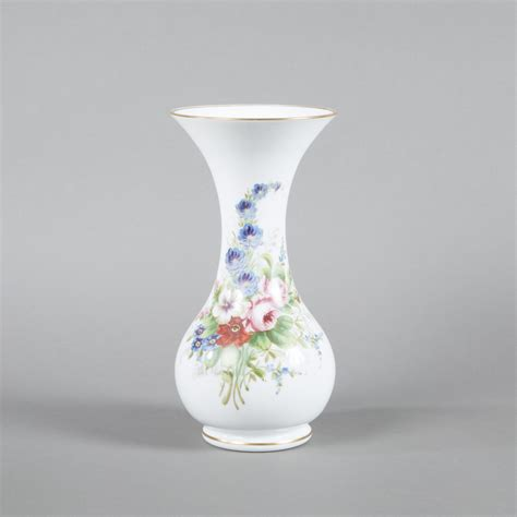 Opaline Glass Vase by Baluster Shaped Opaline Glass Vase Second Half 19th