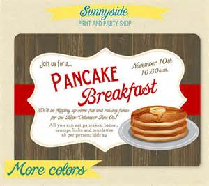 pancake breakfast party invite rustic by sunnysideprintparty