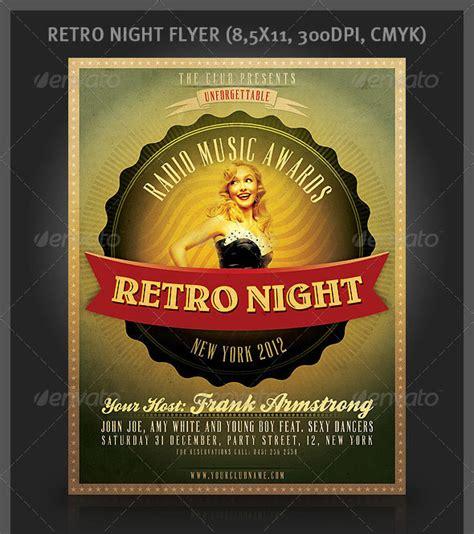Retro Flyer 25 Retro Vintage Psd Flyer Templates Web Graphic