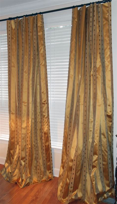 striped silk drapes kravet couture silk drapes striped curtains thamar in