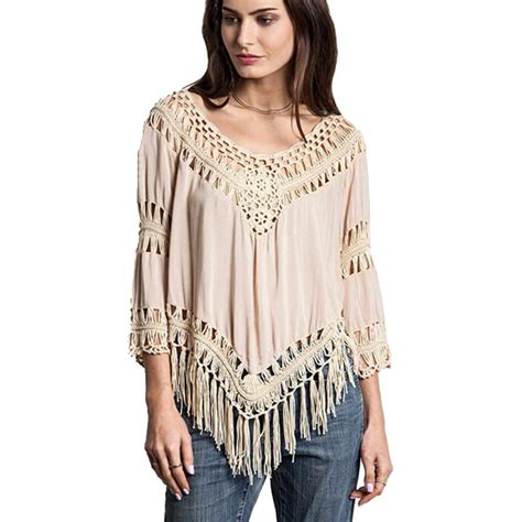 2015 crochet blouses summer style cheap clothes