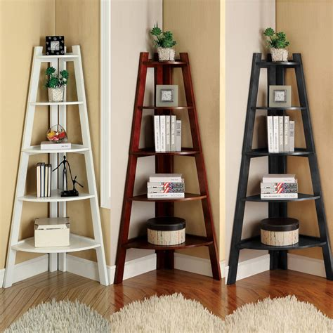 black corner ladder bookcase white cherry black storage ladder shape bookcase bookshelf