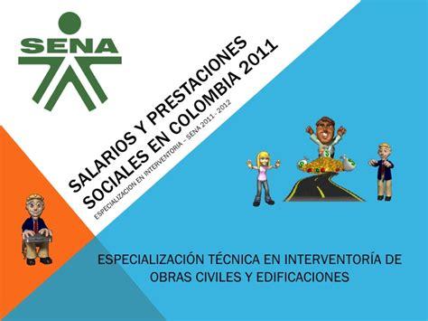 prestaciones sociales gerenciecom salarios y prestaciones sociales en colombia 2011