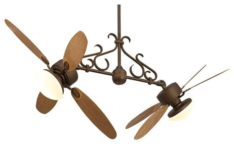 dual outdoor ceiling fan country cottage casa rattan dual 2 light