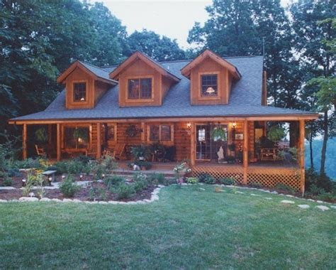 log home with wrap around porch like the offset steps and log cabin building plans free woodworking projects plans