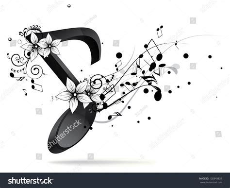 background design note abstract design background with colorful music notes stock