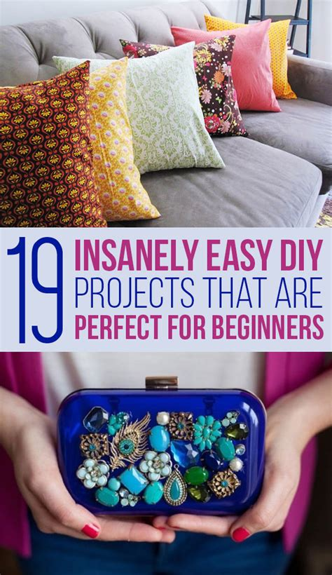 diy crafts for beginners 19 easy diy projects for beginners new craft works