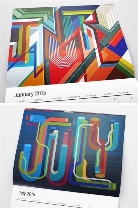 design milk modern calendars 26 modern calendars for 2015 design milk
